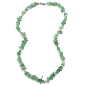 Jewelry - Vintage Aventurine Gemstone Chip Necklace Green